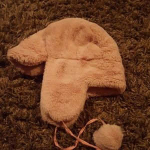 Other - Adorable fuzzy bomber hat